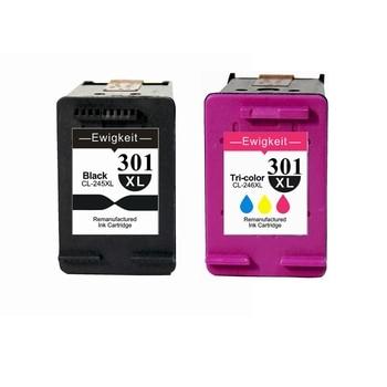 Ewigkeit 301 XL ink cartridges for HP black and Tricolor Deskjet 1000 1010 1050 1050A 1510 2050 2050A 2540
