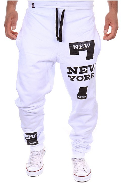 Origional Korean-style Casual Athletic Pants New York Printed Letter Design Fashion Athletic Pants K31