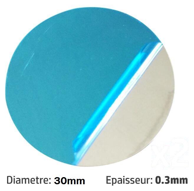30mm Self Adhesive Sticky Metal Round Plate For Mount Magnetic Stationery Holder 10/50/100/200pcs You Choose Quantity