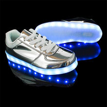 Silver Luminous Shallow Shoes Men Novelty Casual Comfortable Korean Version Chaussure Summer New Zapatos De Hombre