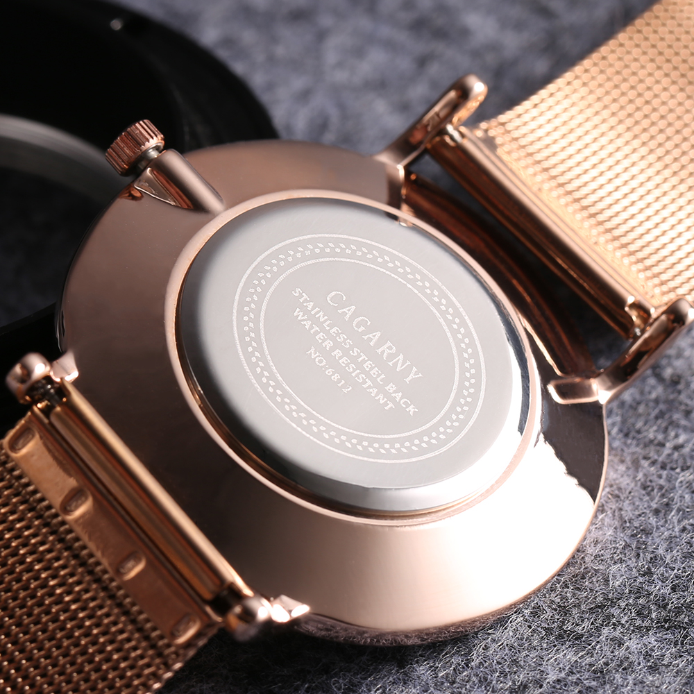 drop shipping rose gold ultra thin case watches womens wristwatches quartz watch for men imitate marble pattern dial rose gold stainless steel elogio feminino montre femme free ship (54)