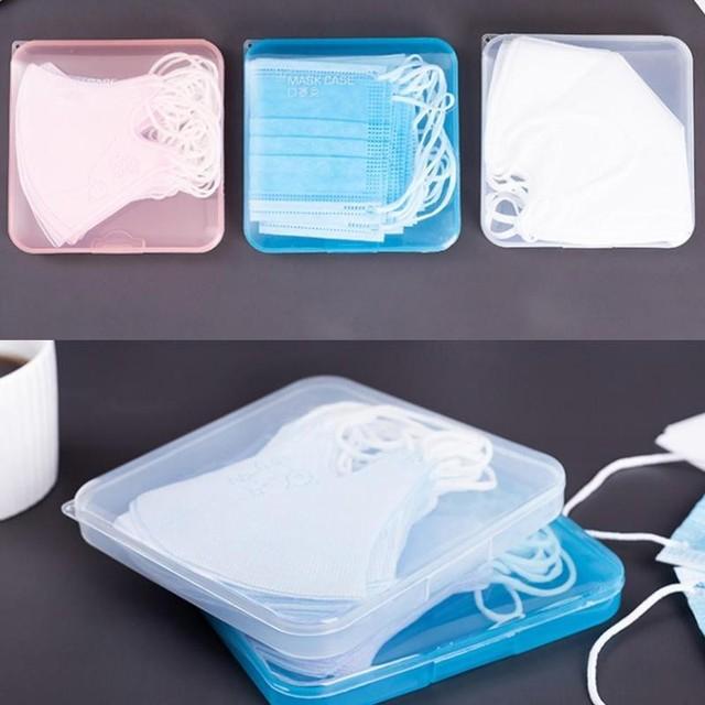 1 Pcs Masks Save Boxes Disposable Student Mask Storage Seal Masks Pill Save Dustproof Boxes Storage Box 3