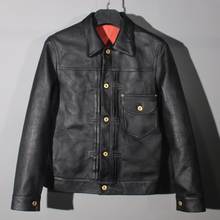 Jacket.100%Cowhide Coat Men Genuine-Leather Casual Fashion Classic Slim 506 Outwear.super-Sales