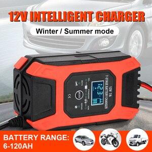 Image 1 - 습식 건식 납 산성 배터리 충전기 디지털 LCD 디스플레이 7 단계 자동 스마트 자동차 배터리 충전기 12V 7A