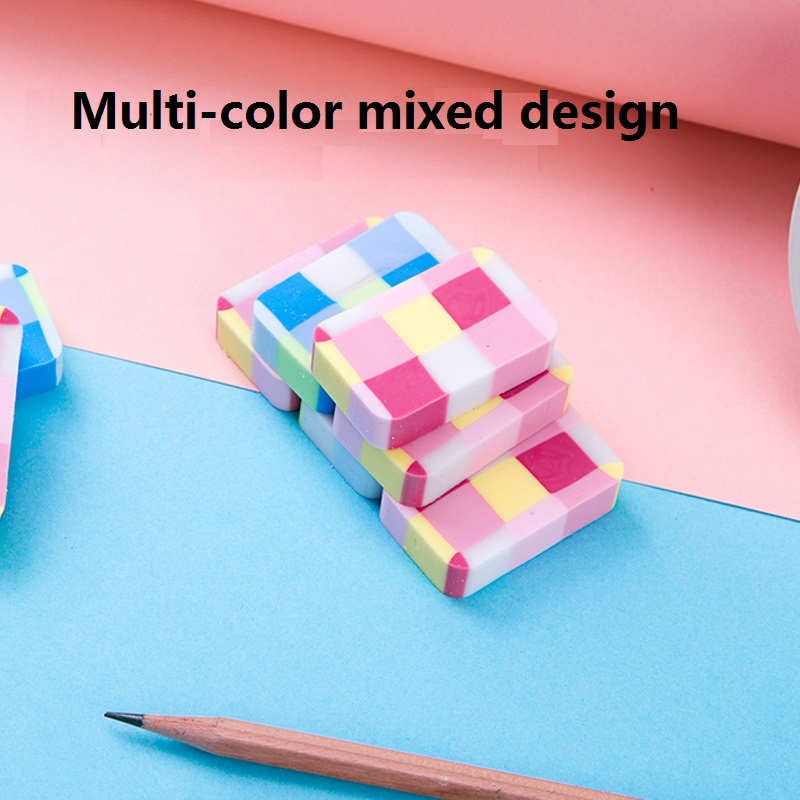 24Pcs Independent Packaging Candy Colors Erasers Pencil Erasers For Kids PVC Material Environmental Safety Students  Deli 71064