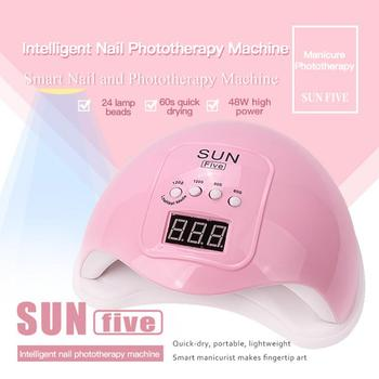 24 Leds Gel Lamp 48W Nail Light Fast Drying Nail Lamp Auto Sensor Uv Lamp Portable Manicure Machine Professional Nail Dryer image
