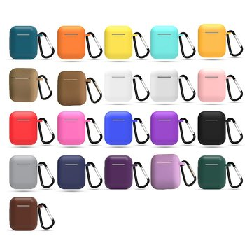 Silicone Cases for Airpods 2nd Luxury Protective Earphone Cover Case for Apple airpods2 Air pods 2 Shockproof Sleeve With Hook image
