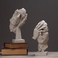 Статуэтки thinker ретро абстрактные персонажи фигурка не слушать/говорить/смотреть