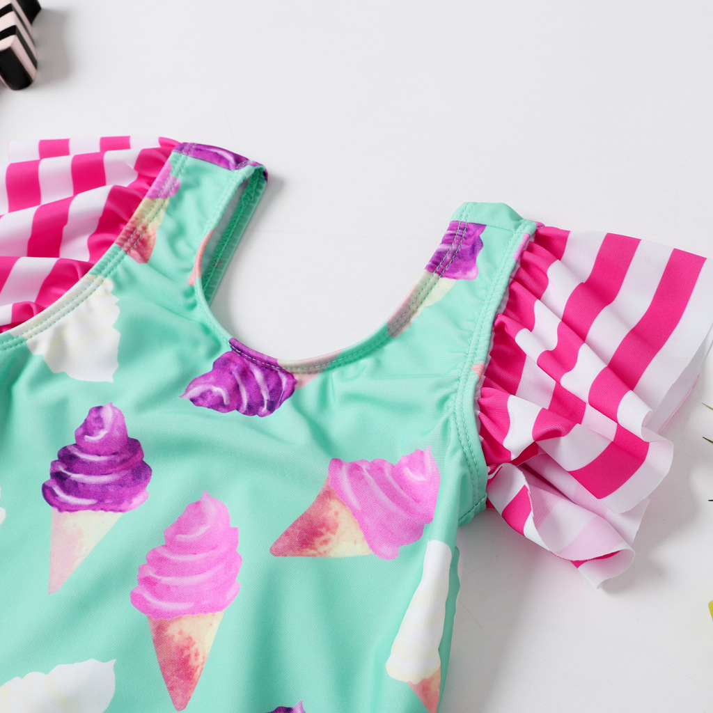 New Style Europe And America GIRL'S One-piece Swimming Suit Briefs CHILDREN'S Swimsuit AliExpress Tour Bathing Suit Infants Swim