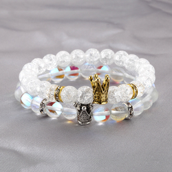 Crown Bracelet for Men Women Gold Crown Accessories King And Queen Paired Women's Bracelets Wristband Couple Bracelet