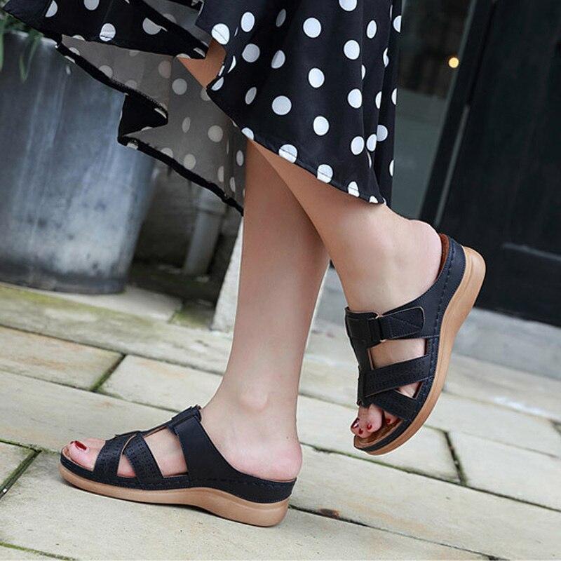 Women Premium Orthopedic Open Toe Sandals Vintage Anti-slip Breathable For Summer SAL99
