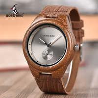 Reloj de pulsera para hombre BOBO BIRD Promotion, reloj de pulsera informal, reloj de pulsera de cuero para él, regalo de cumpleaños, regalo, triangulación de envíos
