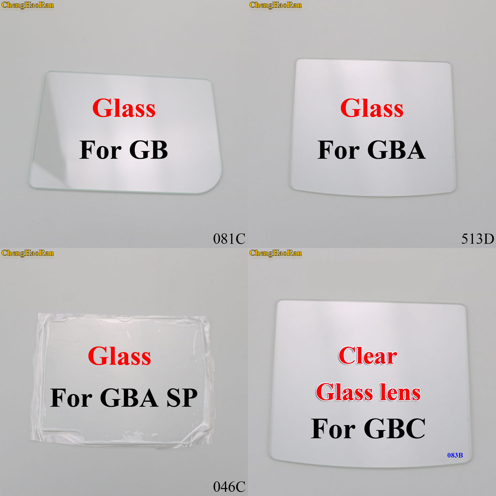 ChengHaoRan 1pc For Gameboy DMG For Raspberry Pi Modify Glass Clear Lens Protector For GBC GBA GB GBA SP
