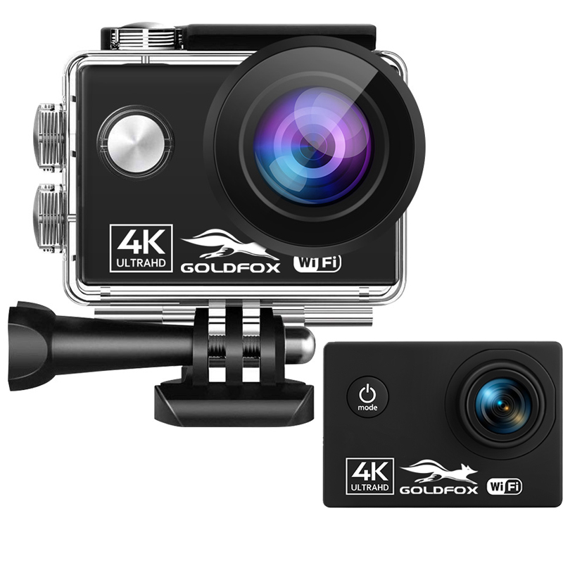 Caméra d'action 24MP Wifi Ultra HD 4K 60fps 2.0 pouces IPS écran Sport casque caméra 30M Go étanche enregistrement vidéo caméras DV