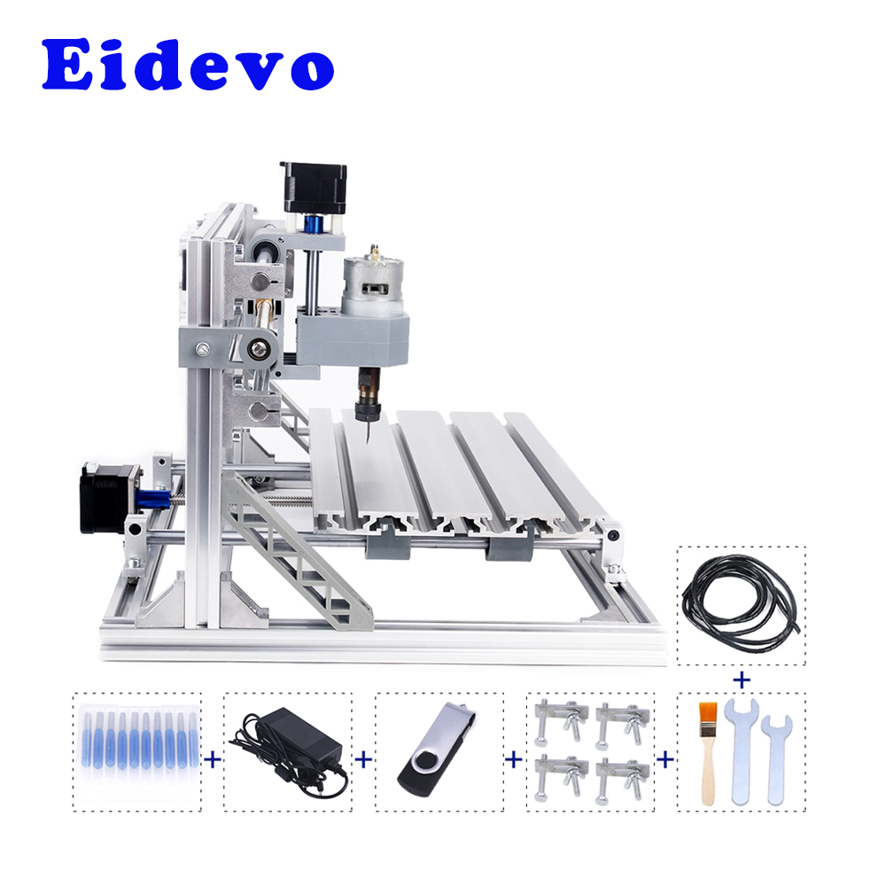 Eidevo CNC 3018 3 Axis 2-in-1 Wood Router Mini CNC 3D Carving Machine Laser Engraver 10000mW 450nm GRBL 1.1f Wood PCB Cutting