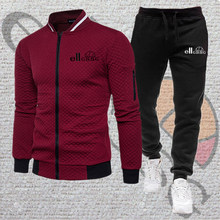Sports suit men's autumn and winter pure cotton fashion cardigan sportswear + sports pants casual running training 2-piece set