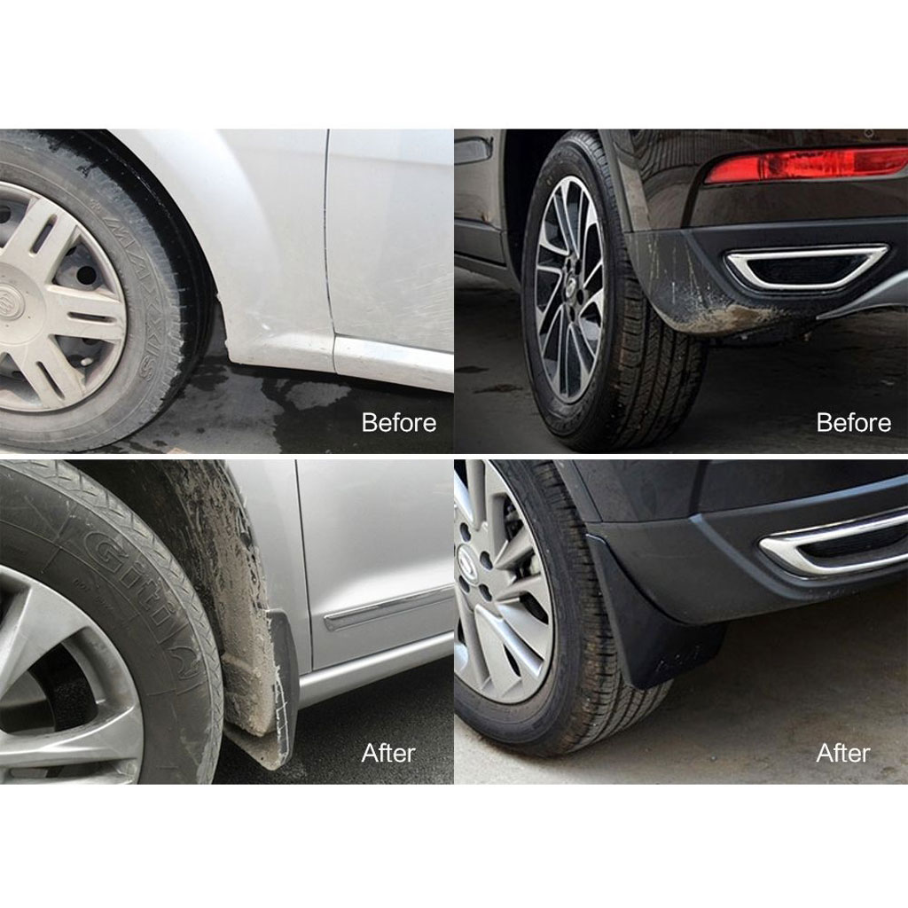 4Pcs Black Splash Guards Mud Flaps Fender Kit for Audi A4 B6 02-05 Sedan