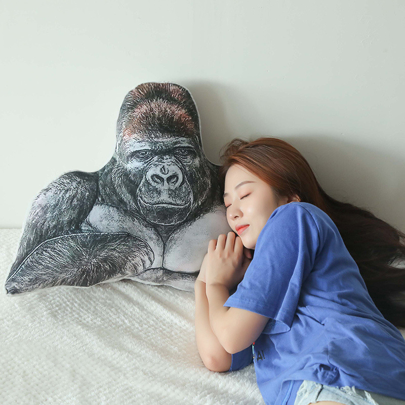 Stuffed Ape Decorative Pillow Plush Gorilla Animal Toy For Bedding , Safa , Home Soft Cushion 90cm Gift For Girlfirends ,Kids