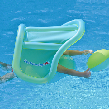 Inflatable Baby Swimming Float With Canopy Infant Kids Swim Pool Accessories Circle Bathing Toddler Rings Summer Water Toys
