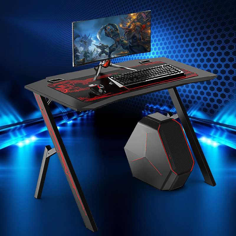 """43.3\""""Game Table Computer Desktop Table and Chair Game Professional Internet Cafe Game Chair Computer Table With Mouse Pad"""