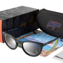 Maui jim marca polarizada óculos de sol olho de gato estrela olhando óculos de sol feminino senhoras polaroid oculos feminino uv400