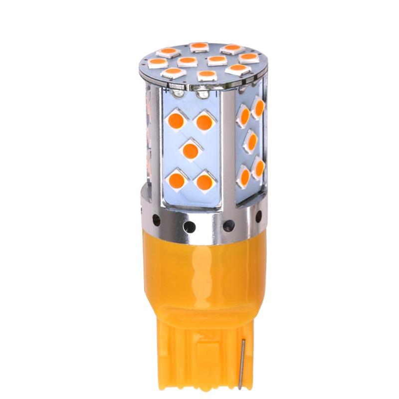 100 шт. T20 W21W 7440 3030 35 SMD ошибок светодиодный Canbus Нет Hyper Flash новый указатель поворота, работающего на постоянном токе 12 В в автомобиля светодиодн
