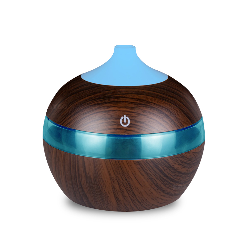 300ML USB Aroma Essential Oil Diffuser Ultrasonic Cool Mist Humidifier Air Purifier 7 Color Change LED Night Light For Home