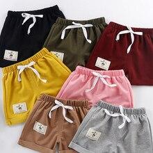 Loose Shorts Casual-Pants Elastic-Waist Baby-Girls V-TREE Cotton Beach Summer Children