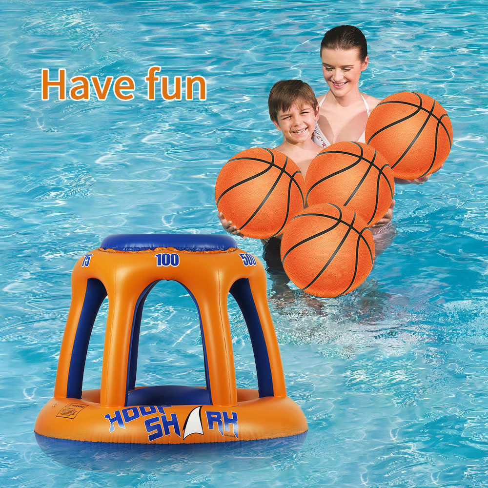 Summer Basketball Hoop Pool Float Inflatable Play Game Swimming Pool Water Sport Toy Pool Floating Toys For Children