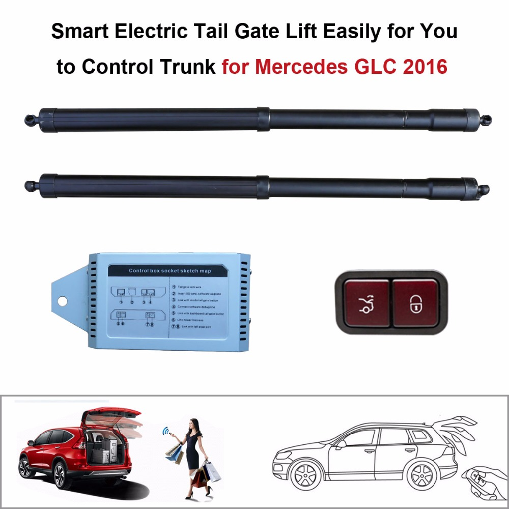 Car Smart Auto Electric Tail Gate Lift For Mercedes Benz GLC 2016 Control Set Height Avoid Pinch