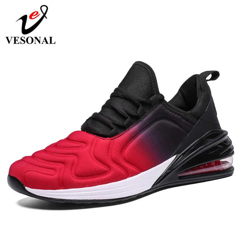 Vesonal Merk Casual Sneakers Mannen Schoenen Lichtgewicht Luchtkussen Voor Volwassen 2020 Herfst Comfort Running Schoen Man Kwaliteit Schoeisel