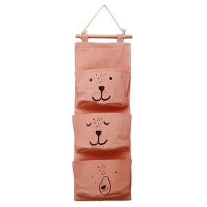 Image 4 - 벽 교수형 욕실 목욕 장난감 가방 주최자 리넨 옷장 어린이 파우치 아기 목욕 완구 도서 화장품 잡화