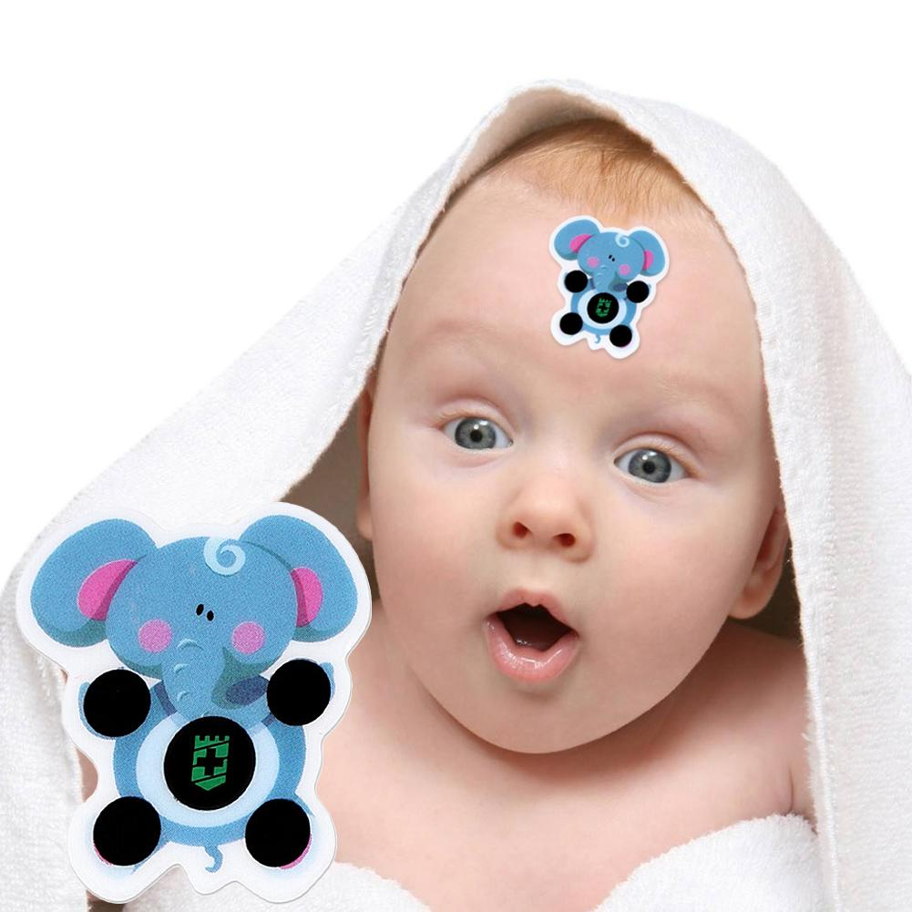Baby Cartoon Sticker LCD Forehead Thermometers Body Fever Thermometers Head Bands Kids Care For Children Body Safety
