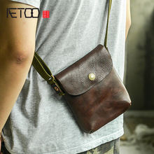 Кожаная сумка для телефона ручной работы aetoo винтажная кожаная