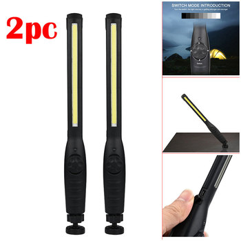 2 in 1 Rechargeable LED COB Camping Work Inspection Light Lamp Hand Torch Magnetic Portable Work LED Flashlight 2pcs cob work light flashlight examining light led camping lamp led tent light portable lanterns foldable torch lamp portable lights