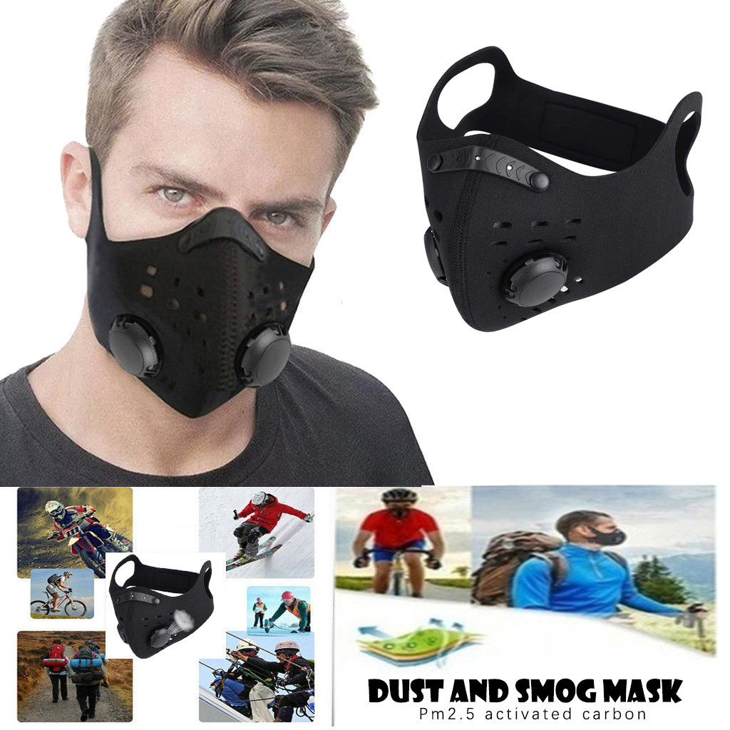 Unisex Sports Face Mask Filter Dust Mouth Mask PM2.5 Anti-pollution Running Cotton Face Mask MTB Road Bike Bicycle Mouth Mask