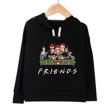 Kids Hoodies T-shirts Children Friends Print Hooded Sweatshirt Casual Autumn Thin Coats Tops Boys Girls Pullover Tees