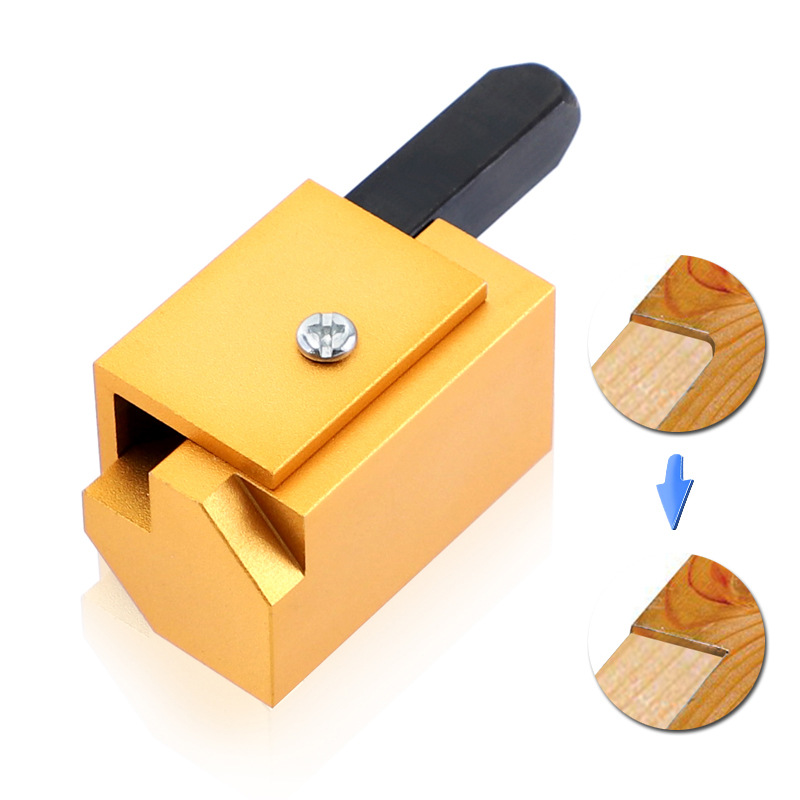 Square Chisel Wood Chisels Aluminium Alloy Gold Embedded Hinges Door Lock Groove Angle Chisel