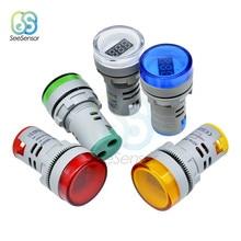 Mini voltmetro digitale rotondo da 22mm AC 60-500V Volt Tester di tensione Monitor Monitor indicatore LED di potenza indicatore luminoso della lampada pilota