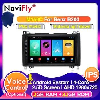 DSP IPS Android 10 2din Auto radio multimedia para coche Mercedes Benz B200 una clase B W169 W245 Viano Vito W639 Sprinter W906