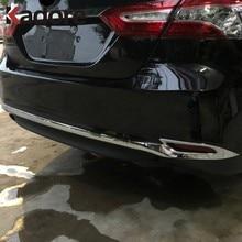 Für Toyota Camry LE XLE 2018 2019 2020 Chrom Kofferraum Abdeckung Trim Auto Zubehör Heckklappe Boot Schutz Streifen