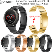 26mm Quick release band For Garmin Fenix 5X/5X Plus replacement bracelet 3/3 HR Smart Watch accessories