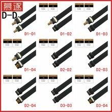 FPC Band Flache HDMI-kompatibel Kabel 10CM-80CM Micro HDMI-kompatibel Micro 90 grad Adapter für HDTV FPV Luft