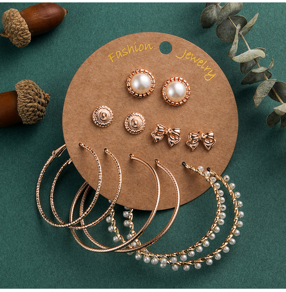 Bohemia Silver Earrings Set Vintage Ethnic Long Round Leaf Tassel Wedding Water Drop Earrings for Women Girls Statement Jewelry (1-1) (4)