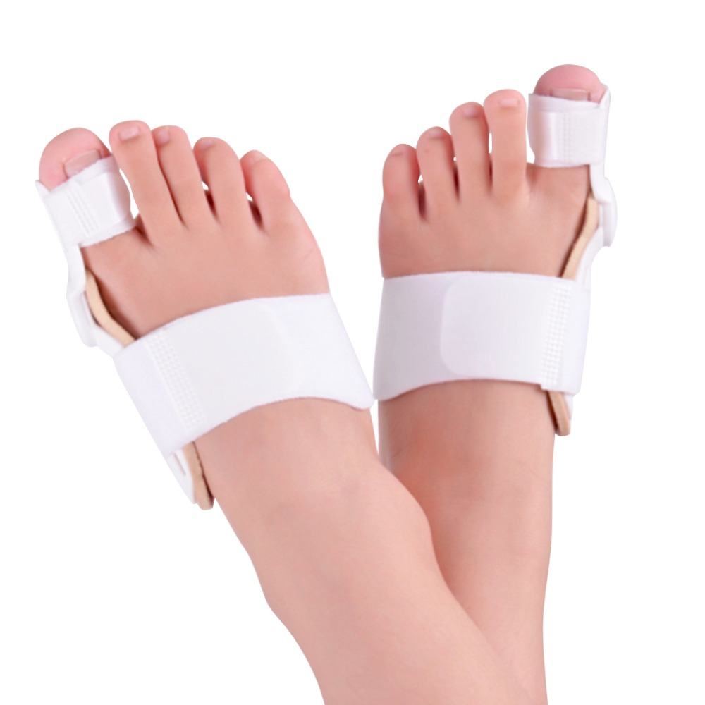 2 PCS Toe Separator 24 Hours Bunion Orthotics Pedicure Hallux Valgus Corrector Pro Orthopedic Adjustable Big Toe Feet Care