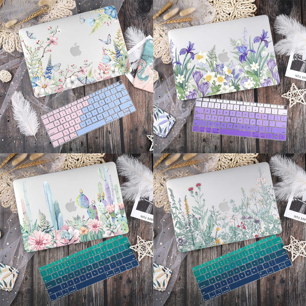 Marmer Bloem Patroon Laptop Case Keyboard Cover Voor Nieuwe Macbook Pro 13 2019 2020 Air 13.3 15 Inch Retina Touch bar A2251 A1932
