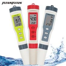 Ph mètre professionnel TDS PH/TDS/EC/compteur de température testeur numérique de qualité de leau pour piscines, eau potable, Aquariums