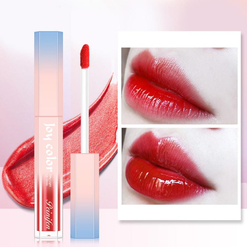 COLOR de la alegría brillo de labios mate Sexy lápiz labial líquido mate de larga duración impermeable belleza cosmética antiadherente taza de maquillaje brillo de labios TSLM2