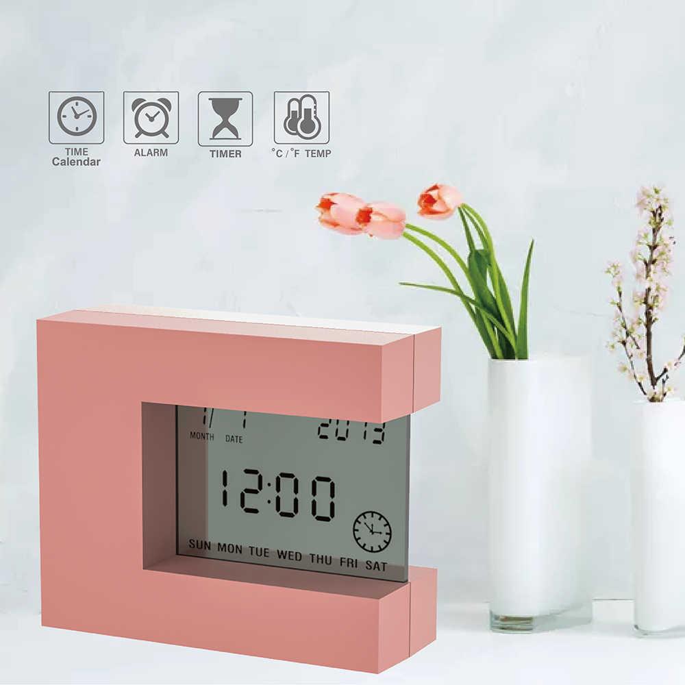 La sveglia da comodino digitale funziona senza cavo di alimentazione, è dotata di una pila ricaricabile al litio che può essere ricaricata con un normalissimo cavo usb tipo cellulare (non tipo c), molto comodo. Sveglia Digitale Da Tavolo Con Termometro Per Interni E Conto Alla Rovescia Orologio Da Comodino Quadrato Elettronico Design Moderno Desk Table Clocks Aliexpress