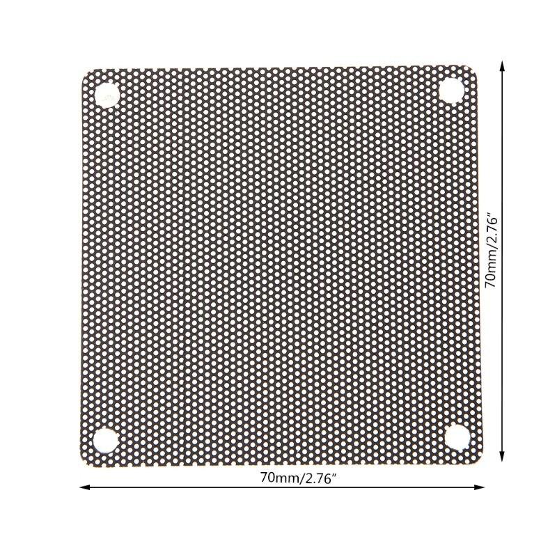 Пылезащитный чехол для ПК, 5 шт., пылезащитный чехол для вентилятора из ПВХ, сетчатый черный чехол 70 мм PXPA